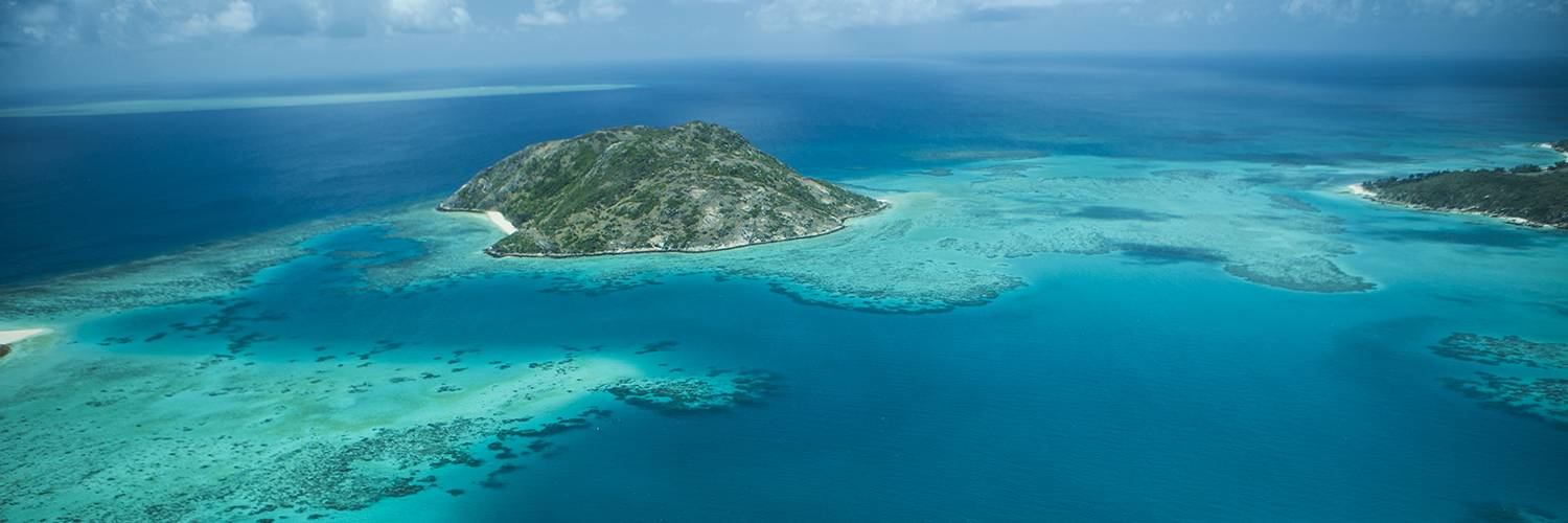 Lizard Island from the air