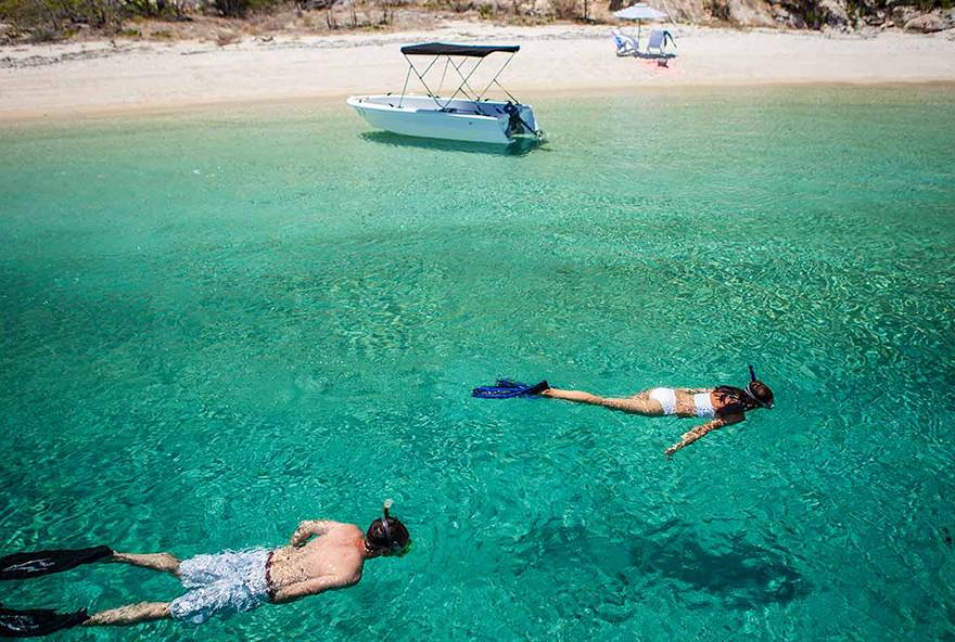 Enjoy snorkelling right off the beach at Lizard Island