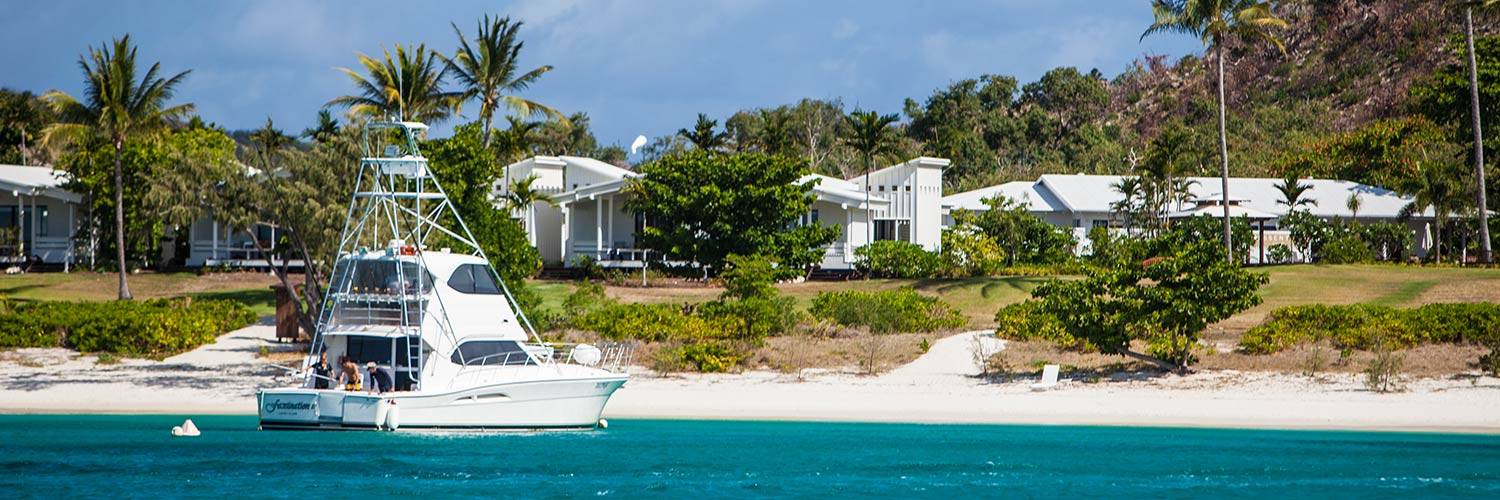 Guests renting a private charter on Lizard Island