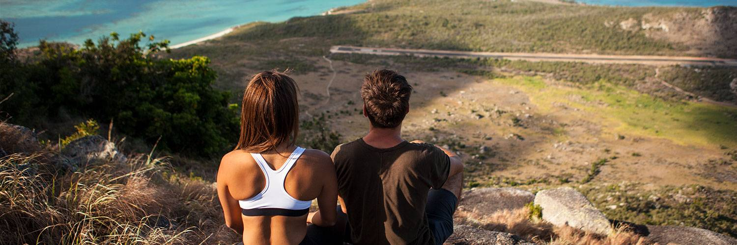 Couple enjoying Crooks Look on Lizard Island