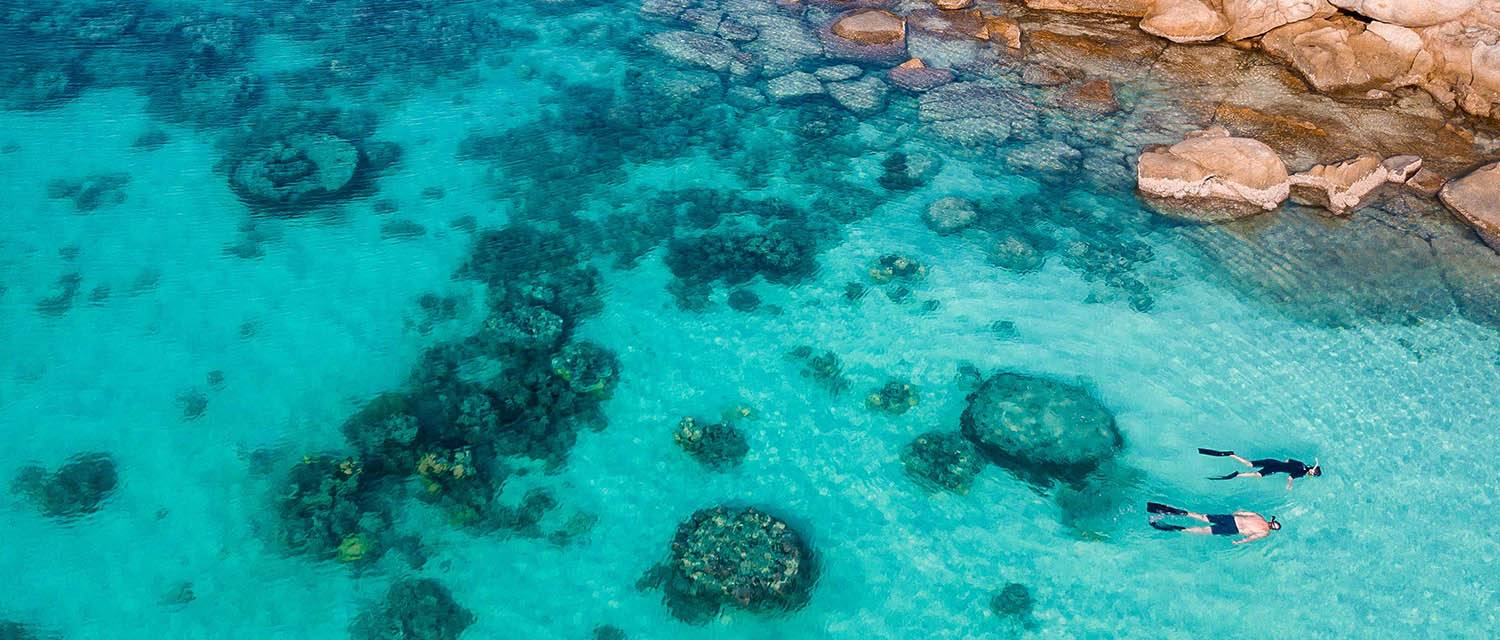 Snorkelling over the Great Barrier Reef, Australia