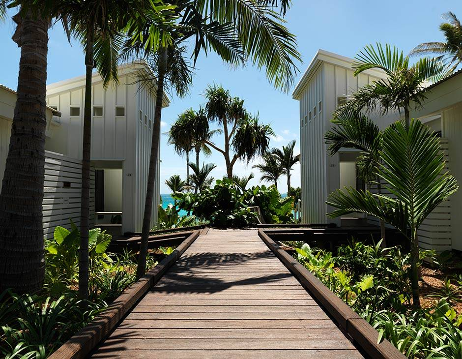 The walkway to Beachfront Suites, Anchor Bay
